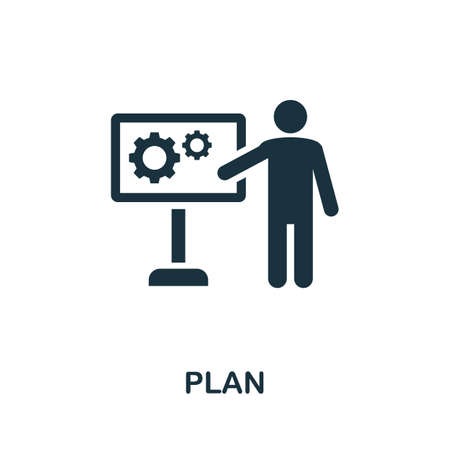 Plan icon. Simple element from consulting collection. Filled Plan icon for templates, infographics and more