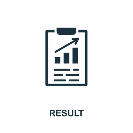 Result icon. Simple element from consulting collection. Filled Result icon for templates, infographics and more