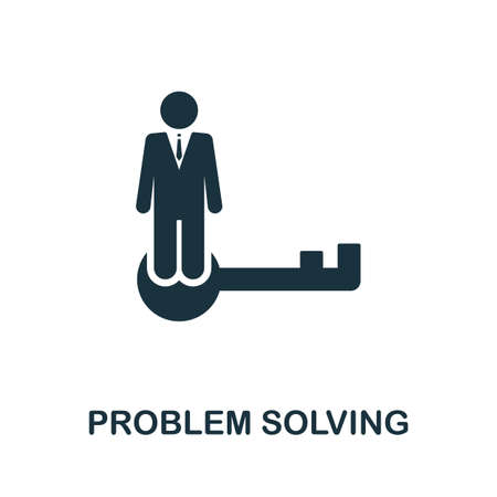Problem Solving icon. Simple element from consulting collection. Filled Problem Solving icon for templates, infographics and more