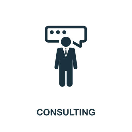 Consulting icon. Simple creative element. Filled Consulting icon for templates, infographics and more