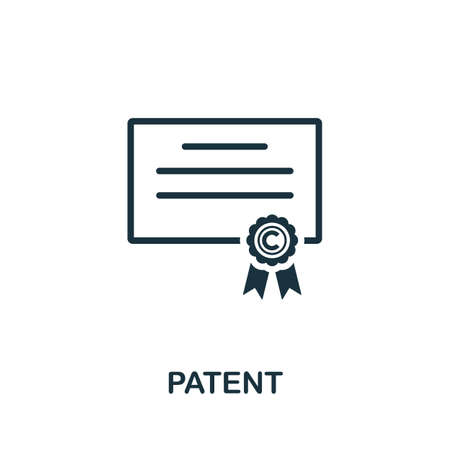 Patent icon. Simple element from intellectual property collection. Filled Patent icon for templates, infographics and more.