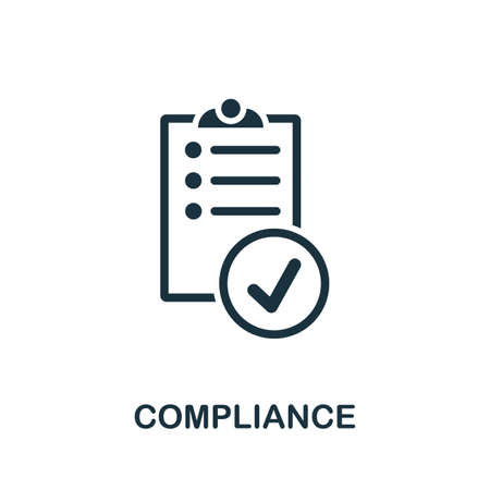 Compliance icon. Simple element from regulation collection. Filled Compliance icon for templates, infographics and more. Ilustração
