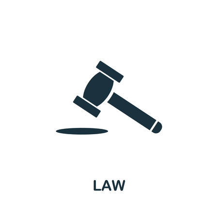 Law icon. Simple element from regulation collection. Filled Law icon for templates, infographics and more.