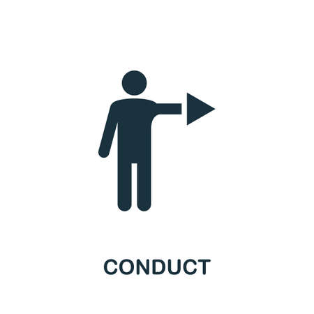 Conduct icon. Simple element from regulation collection. Filled Conduct icon for templates, infographics and more.