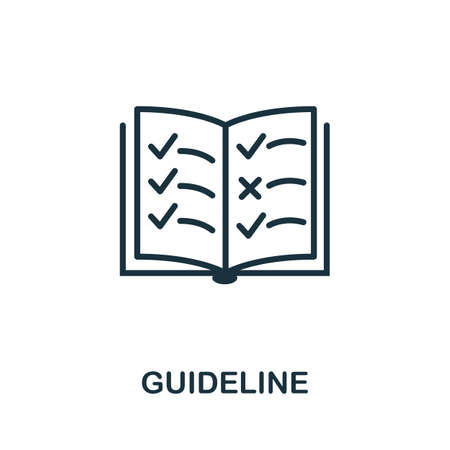 Guideline icon. Simple element from regulation collection. Filled Guideline icon for templates, infographics and more.