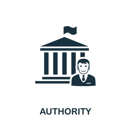 Authority icon. Simple element from regulation collection. Filled Authority icon for templates, infographics and more.  イラスト・ベクター素材