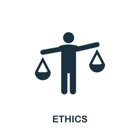 Ethics icon. Simple element from regulation collection. Filled Ethics icon for templates, infographics and more.