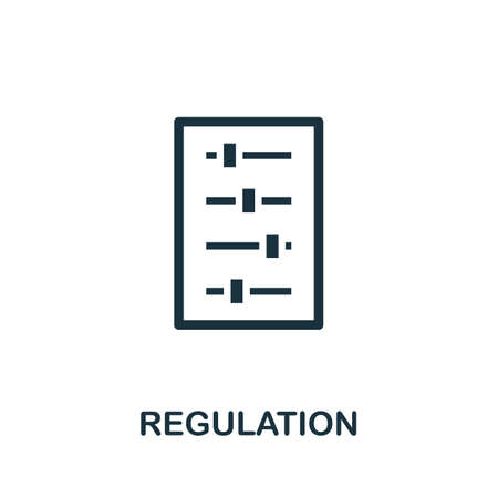 Regulation icon. Simple element from regulation collection. Filled Regulation icon for templates, infographics and more. Ilustração