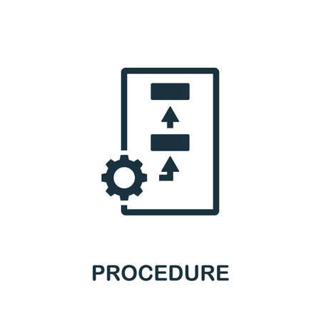 Procedure icon. Simple element from regulation collection. Filled Procedure icon for templates, infographics and more.