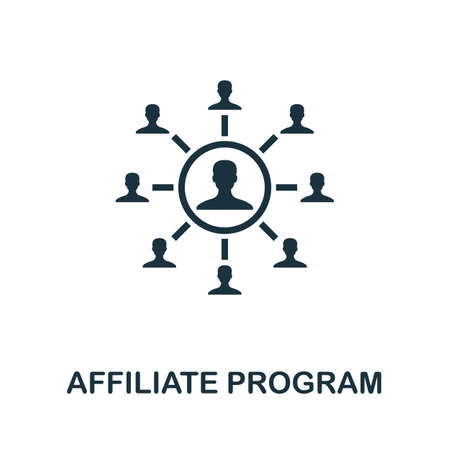 Affiliate Program icon. Simple element from affiliate marketing collection. Filled Affiliate Program icon for templates, infographics and more. Vector Illustration