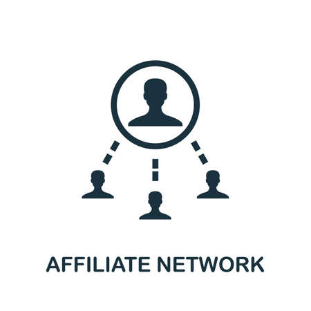 Affiliate Network icon. Simple element from affiliate marketing collection. Filled Affiliate Network icon for templates, infographics and more. Ilustração