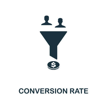 Conversion Rate icon. Simple element from affiliate marketing collection. Filled Conversion Rate icon for templates, infographics and more.