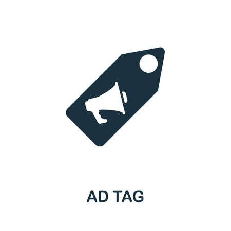 Ad Tag icon. Simple element from affiliate marketing collection. Filled Ad Tag icon for templates, infographics and more. Ilustração