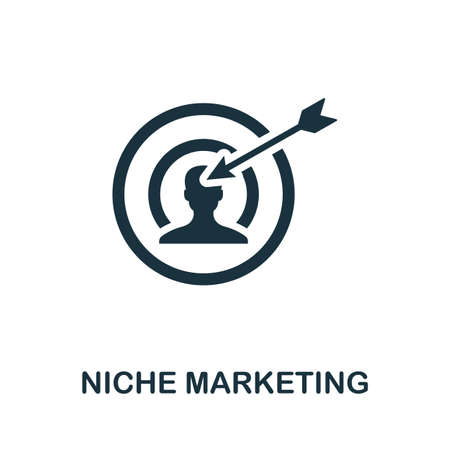 Niche Marketing icon. Simple element from affiliate marketing collection. Filled Niche Marketing icon for templates, infographics and more. Ilustração