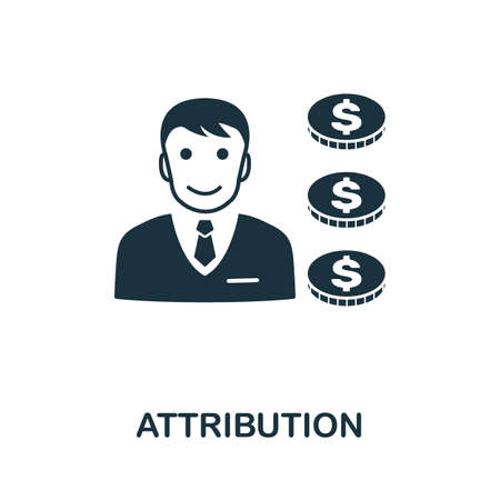 Attribution icon. Simple element from affiliate marketing collection. Filled Attribution icon for templates, infographics and more.