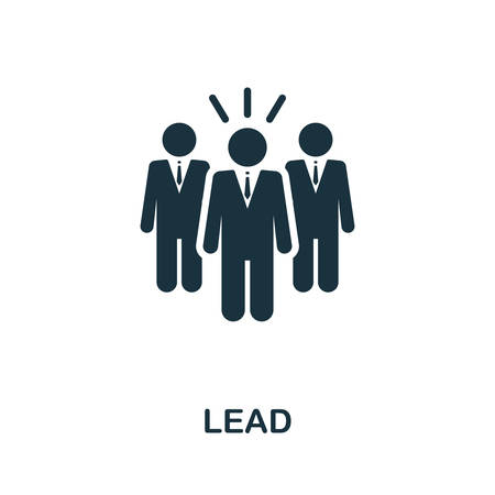 Lead icon. Simple element from affiliate marketing collection. Filled Lead icon for templates, infographics and more. Ilustração
