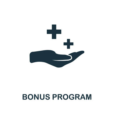 Bonus Program icon. Simple element from affiliate marketing collection. Filled Bonus Program icon for templates, infographics and more. 矢量图像