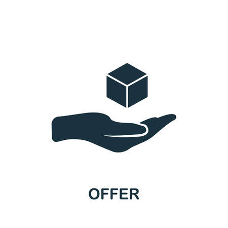 Offer icon. Simple element from affiliate marketing collection. Filled Offer icon for templates, infographics and more.