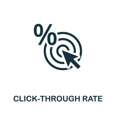 Click-Through Rate icon. Simple element from affiliate marketing collection. Filled Click-Through Rate icon for templates, infographics and more. 矢量图像