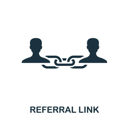 Referral Link icon. Simple element from affiliate marketing collection. Filled Referral Link icon for templates, infographics and more.