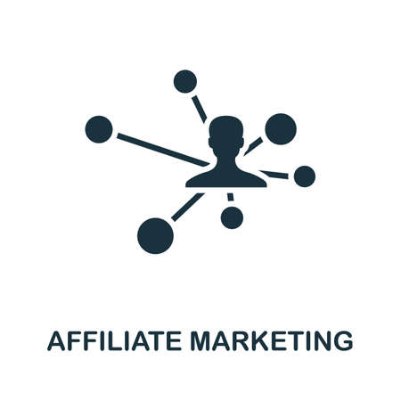 Affiliate Marketing icon. Simple element from affiliate marketing collection. Filled Affiliate Marketing icon for templates, infographics and more.