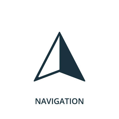 Navigation icon. Simple element from navigation collection. Filled Navigation icon for templates, infographics and more.