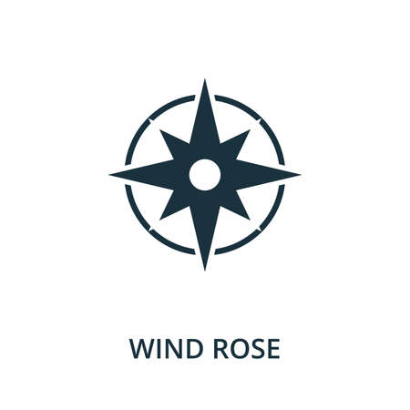 Wind Rose icon. Simple element from navigation collection. Filled Wind Rose icon for templates, infographics and more.