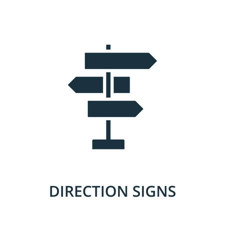 Direction Signs icon. Simple element from navigation collection. Filled Direction Signs icon for templates, infographics and more.