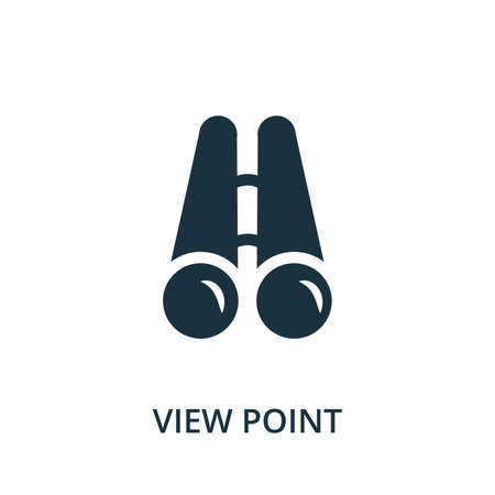 View Point icon. Simple element from navigation collection. Filled View Point icon for templates, infographics and more.
