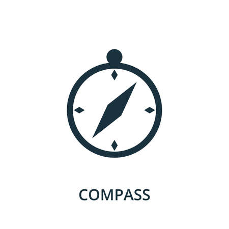 Compass icon. Simple element from navigation collection. Filled Compass icon for templates, infographics and more.