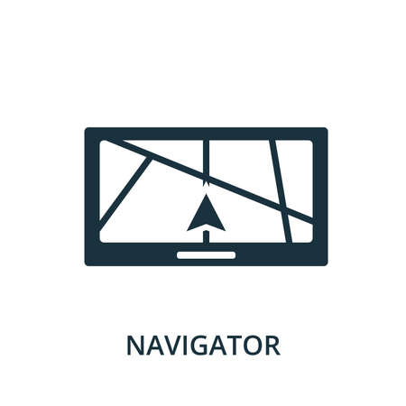 Navigator icon. Simple element from navigation collection. Filled Navigator icon for templates, infographics and more.