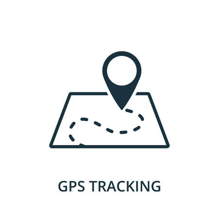 Gps Tracking icon. Simple element from navigation collection. Filled Gps Tracking icon for templates, infographics and more.