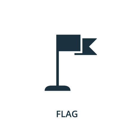 Flag icon. Simple element from navigation collection. Filled Flag icon for templates, infographics and more.