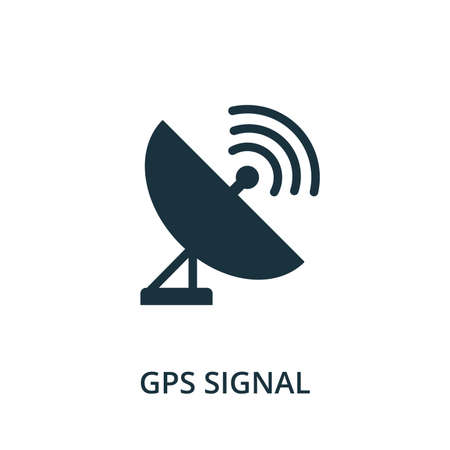 Gps Signal icon. Simple element from navigation collection. Filled Gps Signal icon for templates, infographics and more.