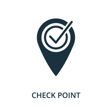 Check Point icon. Simple element from navigation collection. Filled Check Point icon for templates, infographics and more.