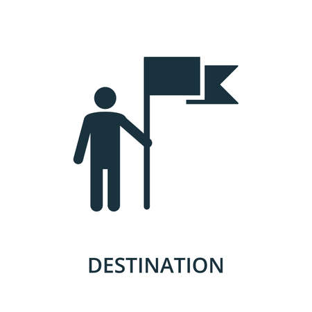 Destination icon. Simple element from navigation collection. Filled Destination icon for templates, infographics and more.