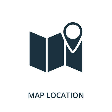Map Location icon. Simple element from navigation collection. Filled Map Location icon for templates, infographics and more.