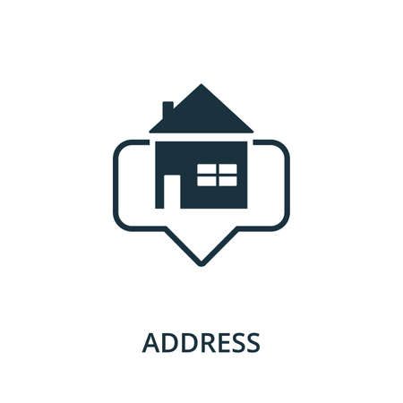 Address icon. Simple element from navigation collection. Filled Address icon for templates, infographics and more.