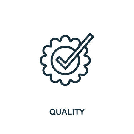 Quality icon. Line style simple element from e-commerce icons collection. Pixel perfect simple quality icon for web design, apps, software, print usage.