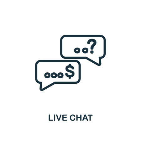 Live Chat icon. Line style simple element from e-commerce icons collection. Pixel perfect simple live chat icon for web design, apps, software, print usage.