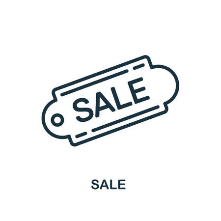 Sale icon. Line style simple element from e-commerce icons collection. Pixel perfect simple sale icon for web design, apps, software, print usage.