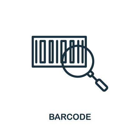Barcode icon. Line style simple element from e-commerce icons collection. Pixel perfect simple barcode icon for web design, apps, software, print usage. Ilustração