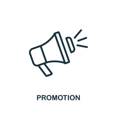 Promotion icon. Line style simple element from e-commerce icons collection. Pixel perfect simple promotion icon for web design, apps, software, print usage.