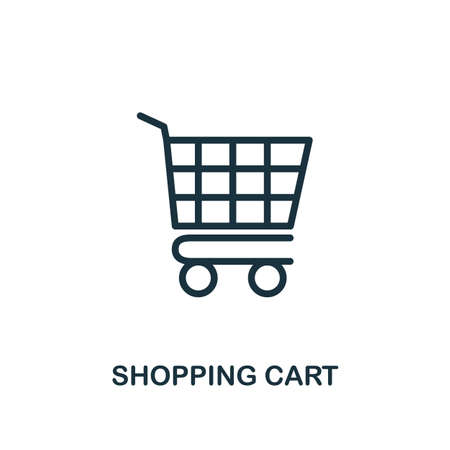 Shopping Cart icon. Line style simple element from e-commerce icons collection. Pixel perfect simple shopping cart icon for web design, apps, software, print usage.