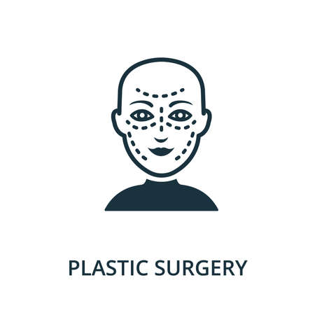 Plastic Surgery icon. Simple line element Plastic Surgery symbol for templates, web design and infographics 矢量图像