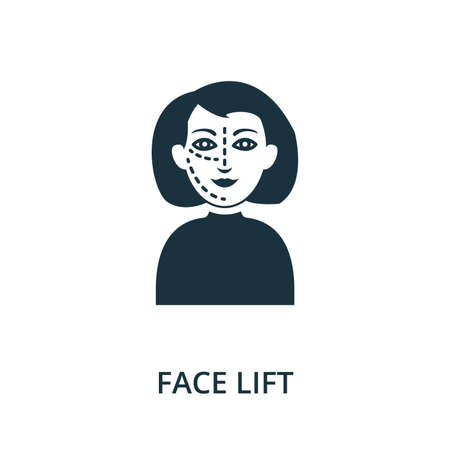 Face Lift icon from plastic surgery collection. Simple line element Face Lift symbol for templates, web design and infographics