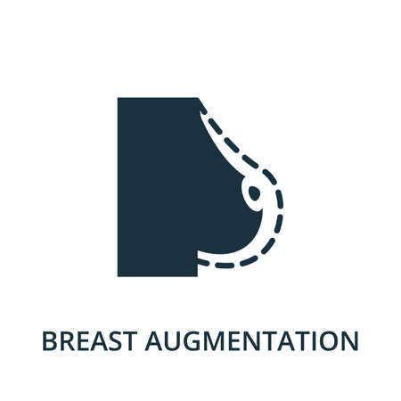 Breast Augmentation icon from plastic surgery collection. Simple line element Breast Augmentation symbol for templates, web design and infographics Vecteurs