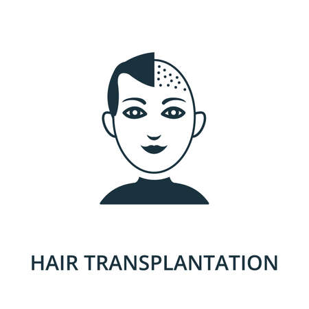 Hair Transplantation icon from plastic surgery collection. Simple line element Hair Transplantation symbol for templates, web design and infographics