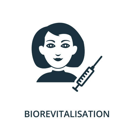 Biorevitalisation icon from plastic surgery collection. Simple line element Biorevitalisation symbol for templates, web design and infographics
