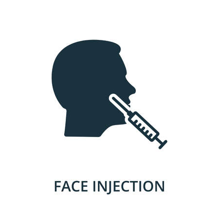 Face Injection icon from plastic surgery collection. Simple line element Face Injection symbol for templates, web design and infographics
